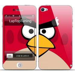 Наклейка на телефон злая красная птичка