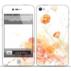 Наклейка на телефон красивые цветы