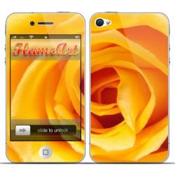 Наклейка на телефон желтая роза