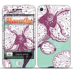 Наклейка на телефон орхидея