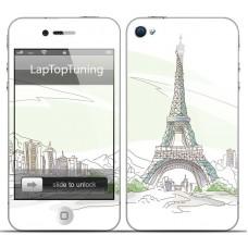 Наклейка на телефон Париж