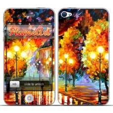 Наклейка на телефон краски природы