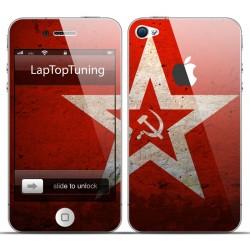 Наклейка на телефон красная звезда