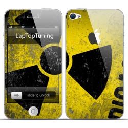 Наклейка на телефон ядерная опасность