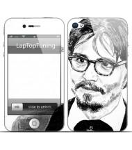 Наклейка на телефон Джони Деп