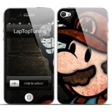 Наклейка на телефон Марио