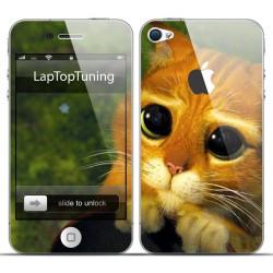 Наклейка на телефон котик