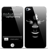 Наклейка на телефон в лучах света