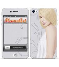 Наклейка на телефон блондинка