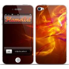 Наклейка на телефон лепестки пламени