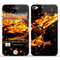 Наклейка на телефон огненный орел