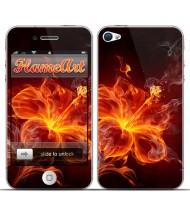 Наклейка на телефон огненный цветок