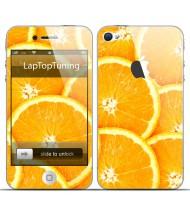 Наклейка на телефон апельсин