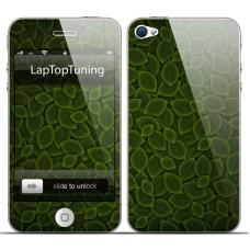 Наклейка на телефон зеленые листики