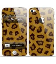 Наклейка на телефон леопард